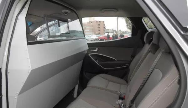 Policarbonato incoloro en taxi