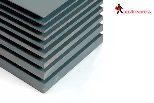 PVC Rígido blanco y gris