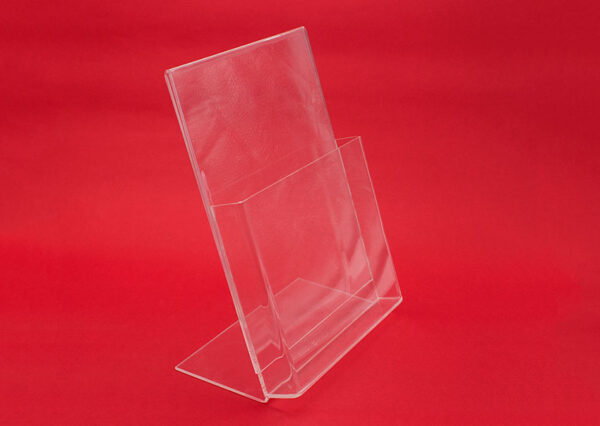 Methacrylate brochure holder