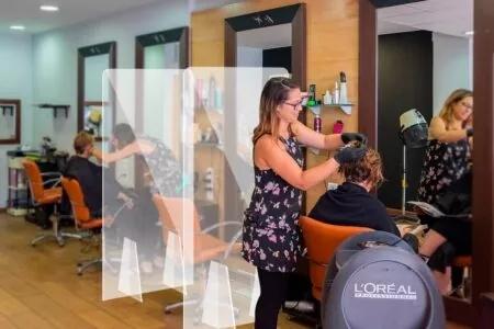 Mampara de metacrilato para peluquerías